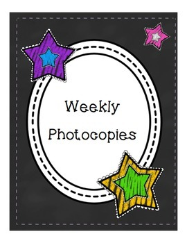 Chalkboard Binder Covers and Spines for Weekly Photocopies