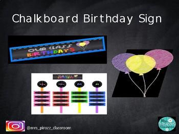 Chalkboard Birthday Bundle #ausbts18