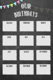 Chalkboard Birthday Chart