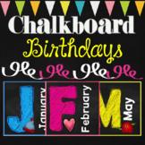 Chalkboard Birthday Editable
