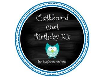 Chalkboard Birthday Owl Kit
