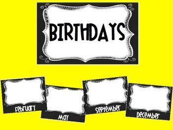 Chalkboard Birthday Posters