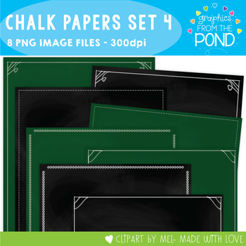 Chalkboard / Blackboard Background Papers Set 4