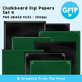 Chalkboard / Blackboard Background Papers Set 4