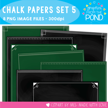 Chalkboard / Blackboard Background Papers Set 5