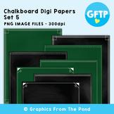 Chalkboard / Blackboard Background Papers Set 5