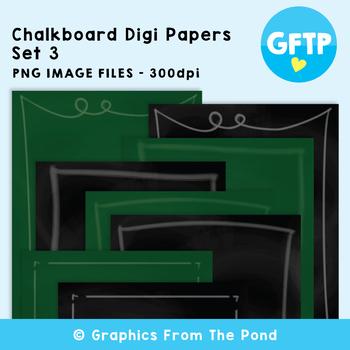 Chalkboard / Blackboard Background Papers Set 3