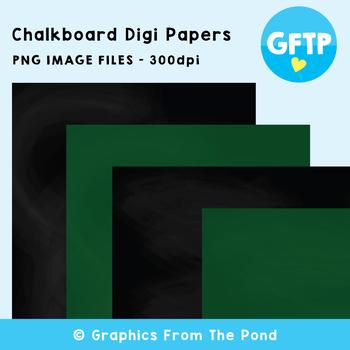Chalkboard / Blackboard Paper Backgrounds