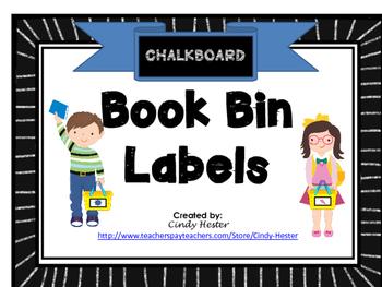 Chalkboard Classroom Library Book Bin / Basket Labels