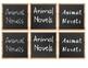Chalkboard Book Bin Labels by Genre