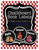 Chalkboard Book Labels