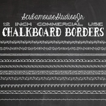Chalkboard Borders, 12 inch Commercial Use
