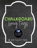 Chalkboard Brag Tags