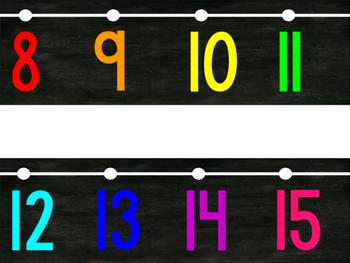 Chalkboard Bright 0 - 120 Number Line