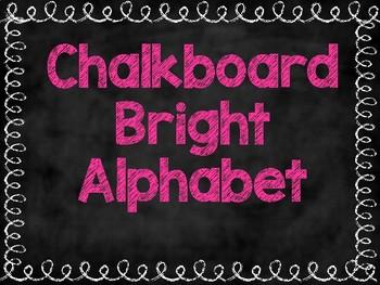 Chalkboard Bright Alphabet
