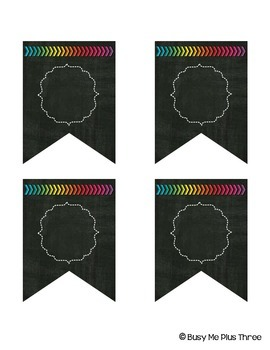 Editable Banners 160 Different Chalkboard & Bright Arrows Pendants