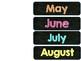 Chalkboard Bright Birthday Bulletin Board