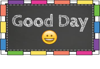 Chalkboard & Bright Clip Chart/Behavior Ladder + Emojis!