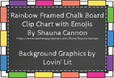 Chalkboard & Bright Clip Chart/Behavior Ladder + Emojis!