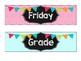 Chalkboard Bright Drawer Labels