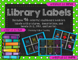 Chalkboard Bright Library Labels