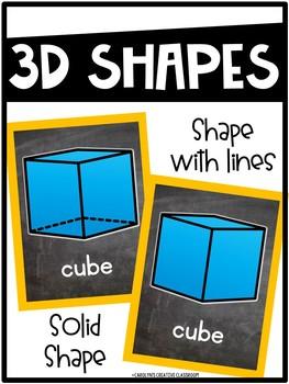 Chalkboard Bright Shape Posters - Chalkboard Classroom Decor