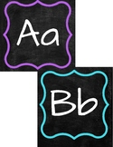 Chalkboard Bright Theme Word Wall Letters