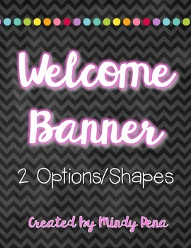 Chalkboard Bright Welcome Banner