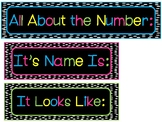 Chalkboard Brights All About the Number Bulletin Board Labels.