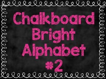 Chalkboard Brights Alphabet #2