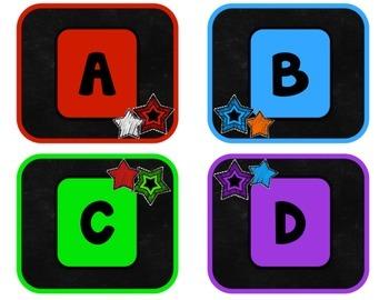 Chalkboard & Brights Alphabet Labels