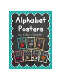 Chalkboard Brights Alphabet Posters {Rainbow}