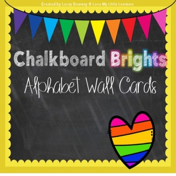 Chalkboard Brights Alphabet Wall Cards