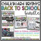 Chalkboard Brights Back to School Essentials