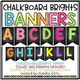Chalkboard Brights Banners