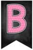 Chalkboard Brights Banners