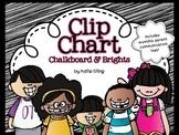 Chalkboard & Brights Behavior Charts