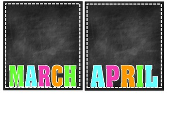 Chalkboard Brights Birthday Chart