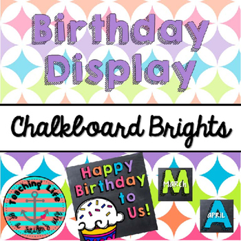 Chalkboard Brights Birthday Display