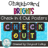 Chalkboard Brights: Book Check In & Out Signs for the Library