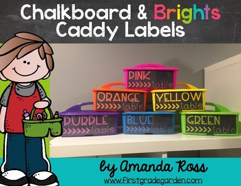 Chalkboard & Brights Caddy Labels