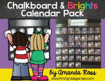 Chalkboard & Brights Calendar Pack {Lots of Ink Version}