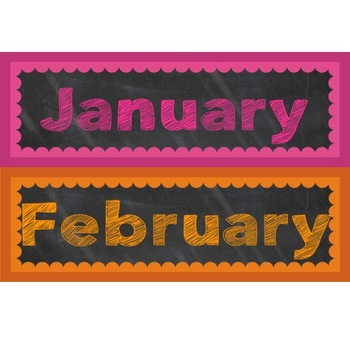Chalkboard Brights Calendar Set