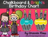 Chalkboard & Brights Classroom Birthday Chart