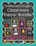 Chalkboard Brights Classroom Decor Bundle