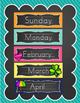 Chalkboard Brights Classroom Decor Bundle