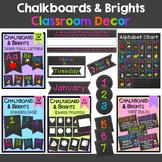 Chalkboard & Brights Classroom Décor Bundle