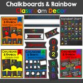 Chalkboard & Rainbow Classroom Décor Bundle