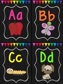 Chalkboard & Brights Classroom Decoration Set