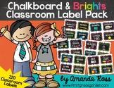 Chalkboard & Brights Classroom Label Pack